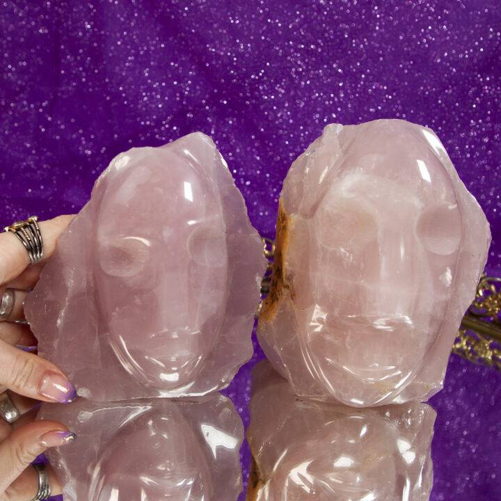 Carved Rose Quartz Guardian