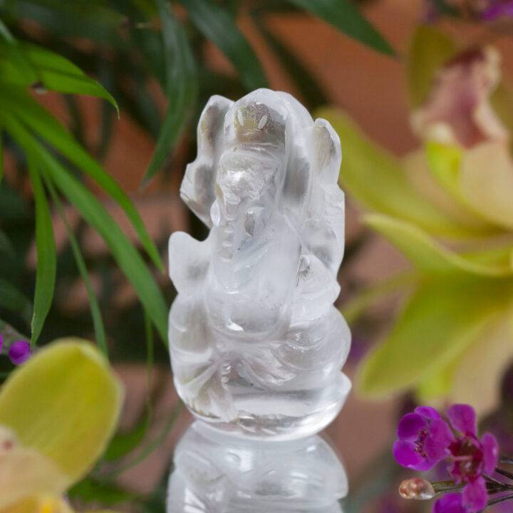 Clear Quartz Great Luck Ganesha