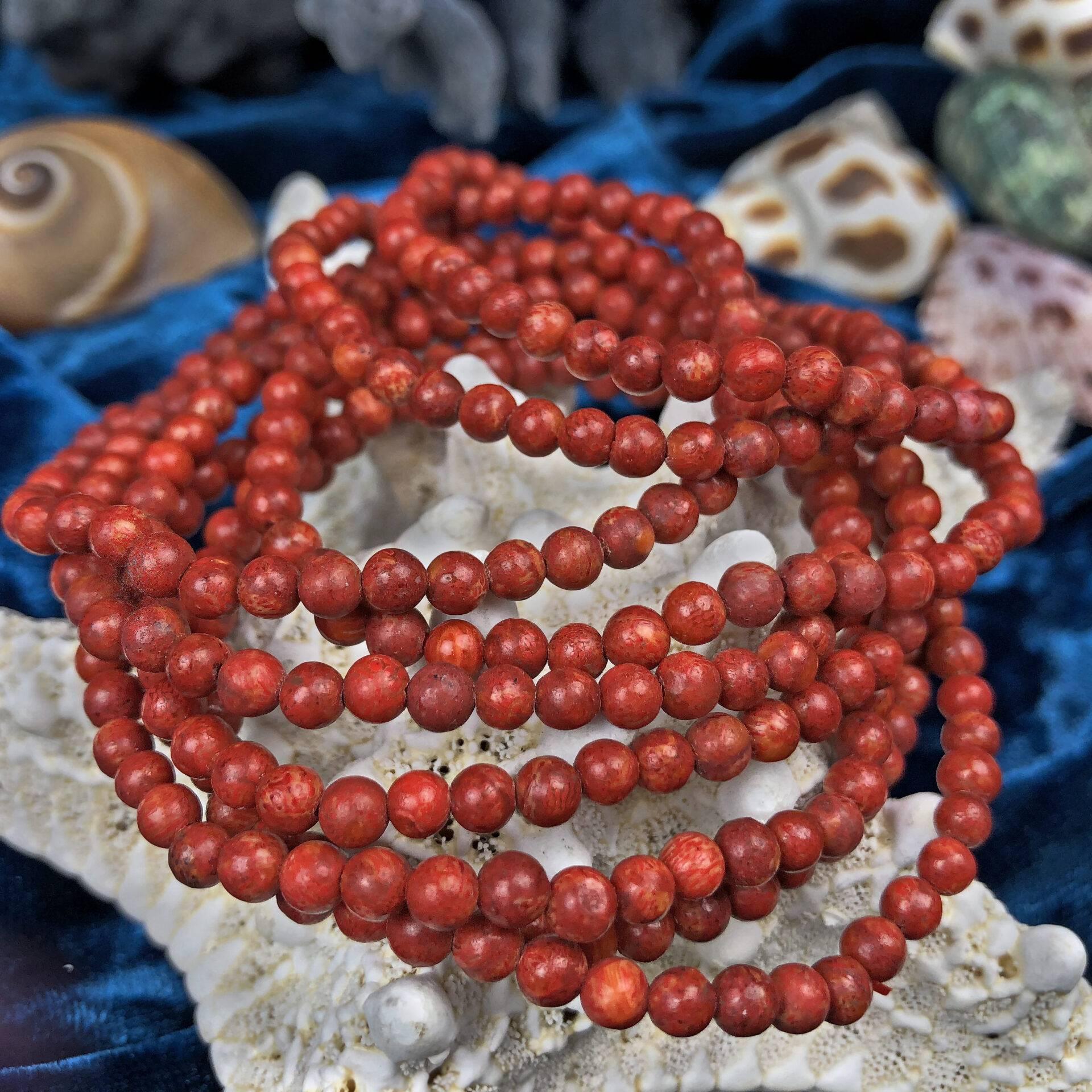 Red Coral Goddess Reiki Bracelet