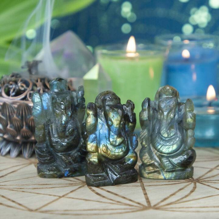 Freedom and Fortune Labradorite Ganesha