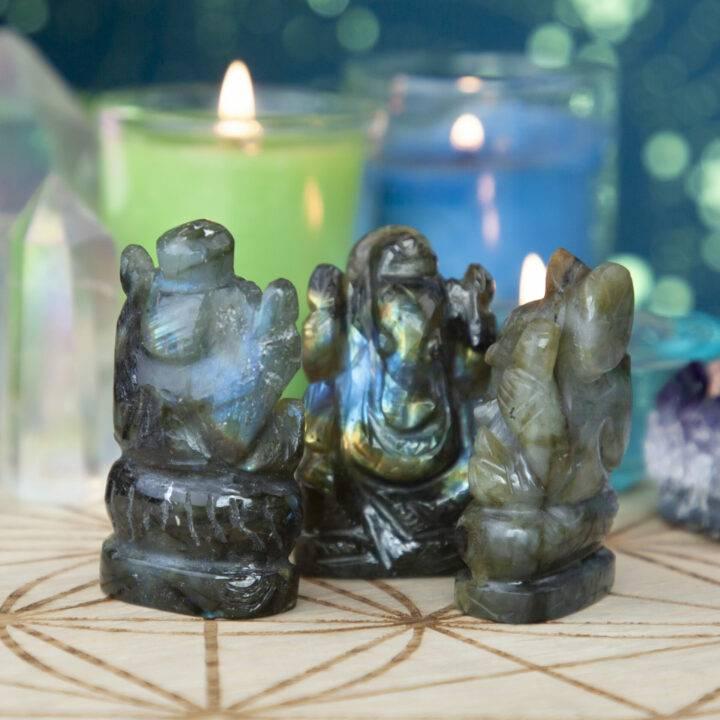 Freedom and Fortune Labradorite Ganesha