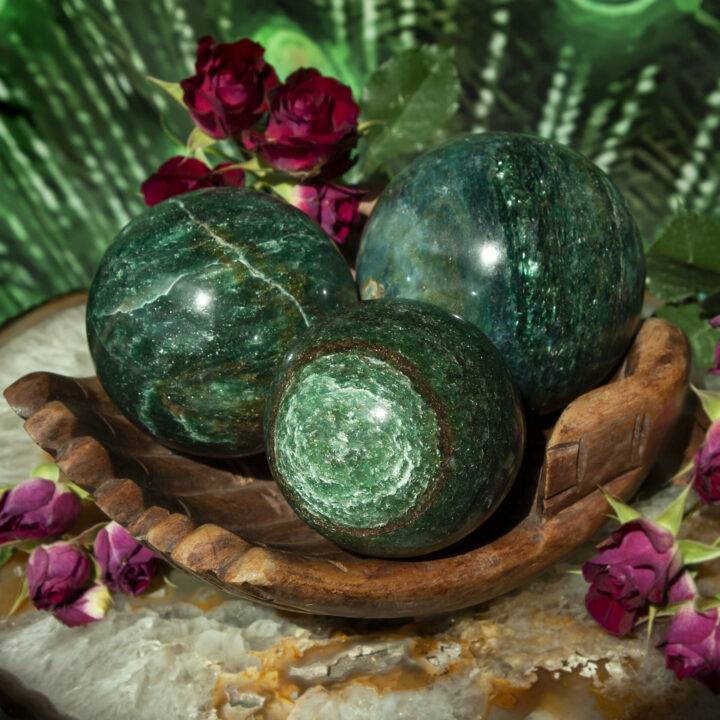 Fuchsite Love and Life Force Sphere