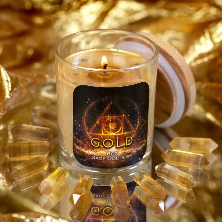 Gold Intention Candle