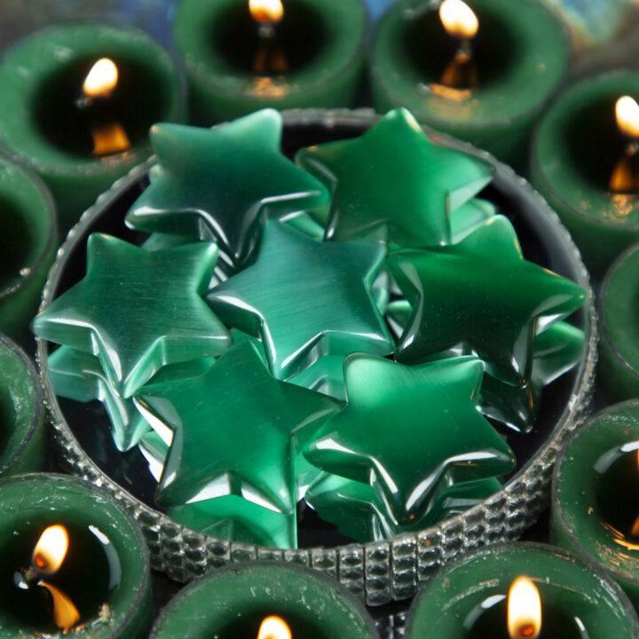 Green Cats Eye Star BeeBop