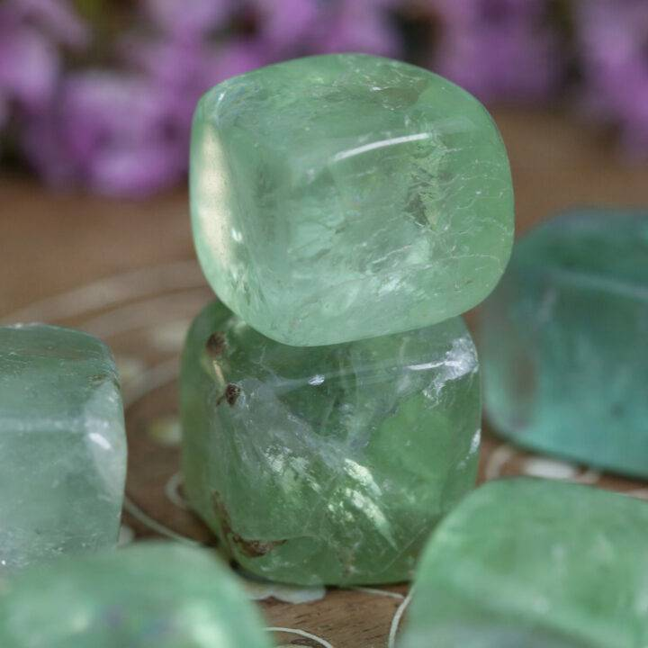 Green Fluorite: Medium Tumbled