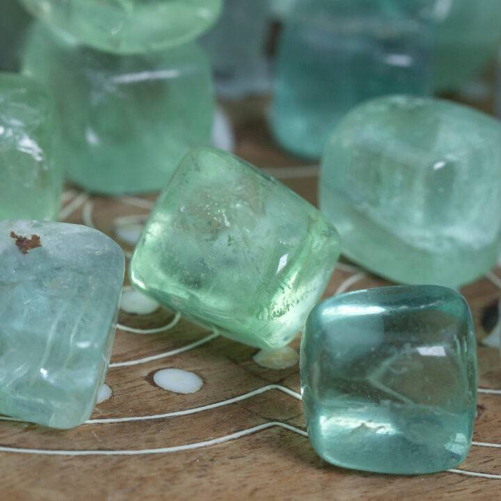 Green Fluorite: Small Tumbled