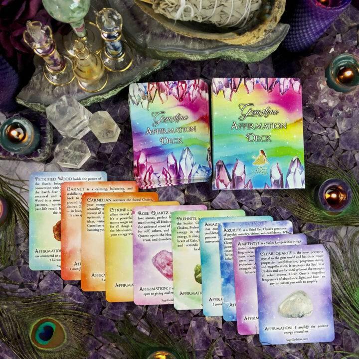 Gemstone Affirmation Oracle Card Deck