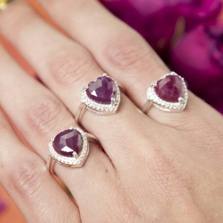 Healed Heart Ruby Ring
