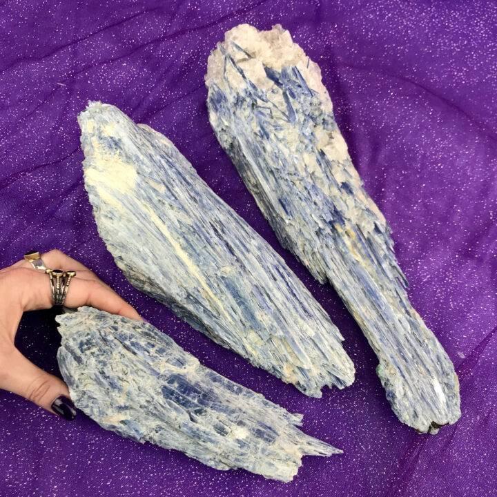 Huge Natural Blue Kyanite Spear