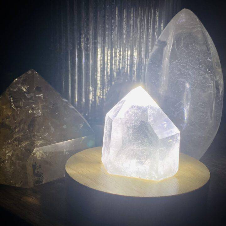 LED Lighted Gemstone Display Stand
