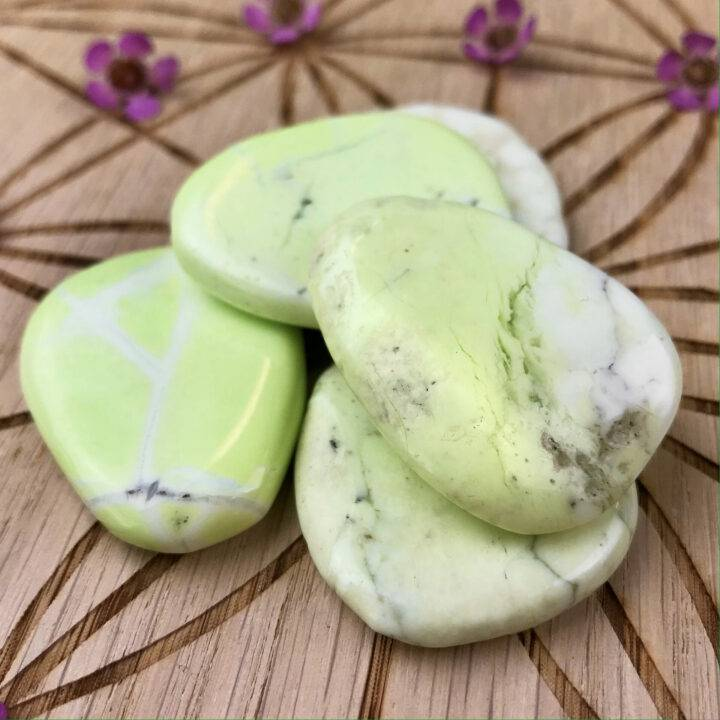 Lemon Chrysoprase Heal and Be Happy Palm Stone