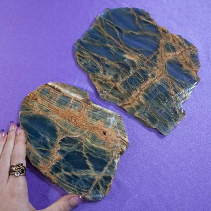 Lemurian Blue Calcite Charging Plate