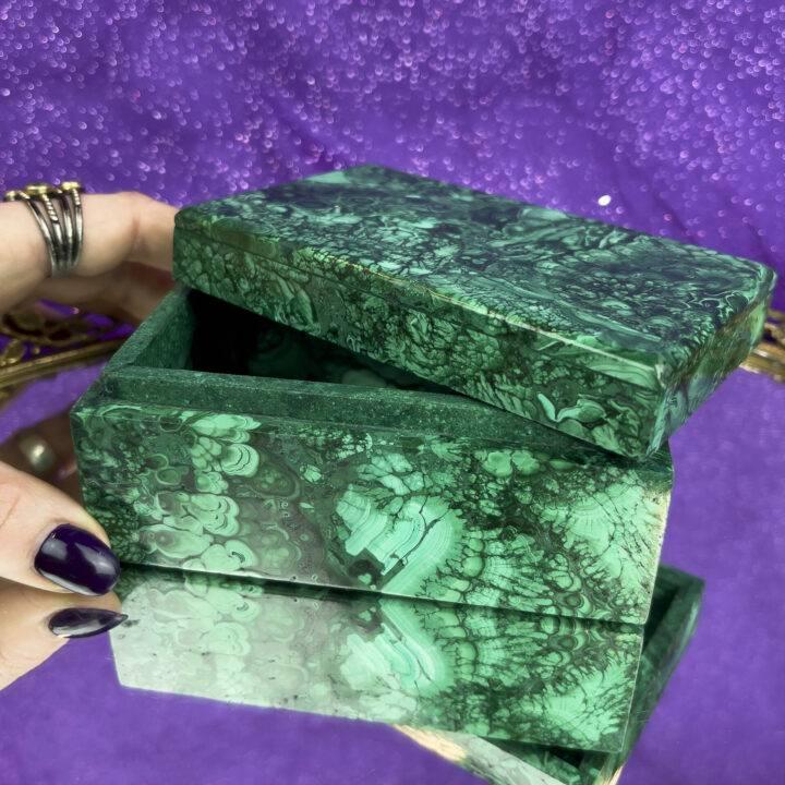 Gemstone Sale: Malachite Jewelry Box