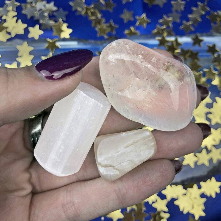 Moon Phase Gemstone Trio: Full