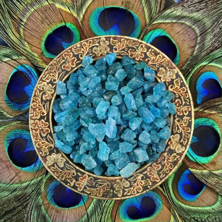 Natural Blue Apatite Crystal