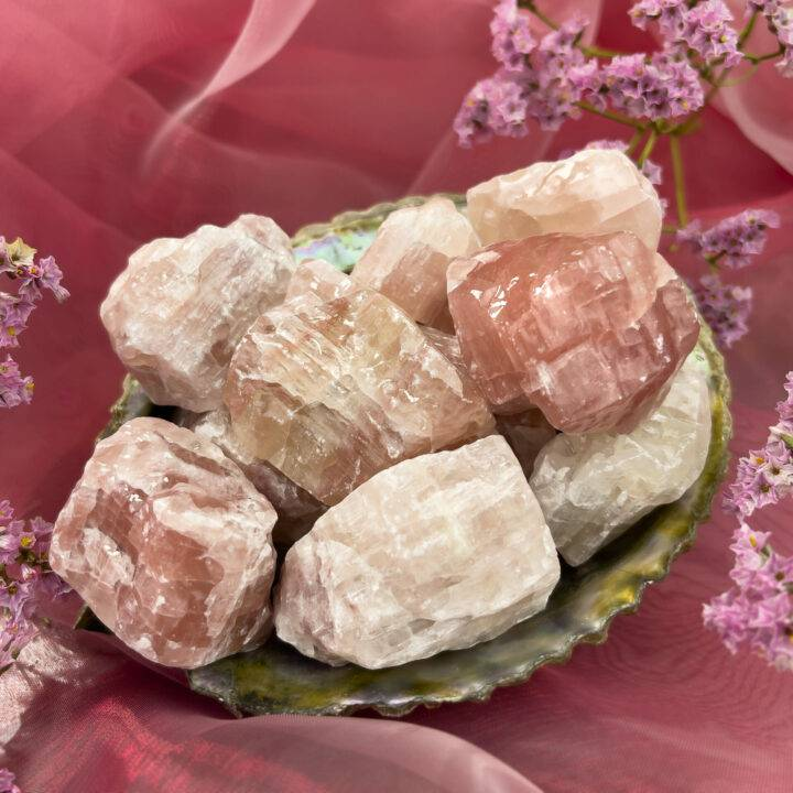 Natural Strawberry Calcite