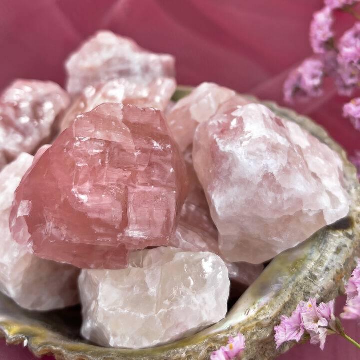 Natural Strawberry Calcite