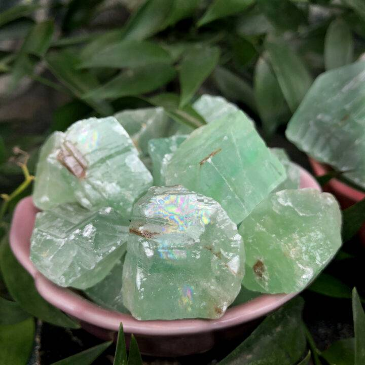 Natural Green Calcite