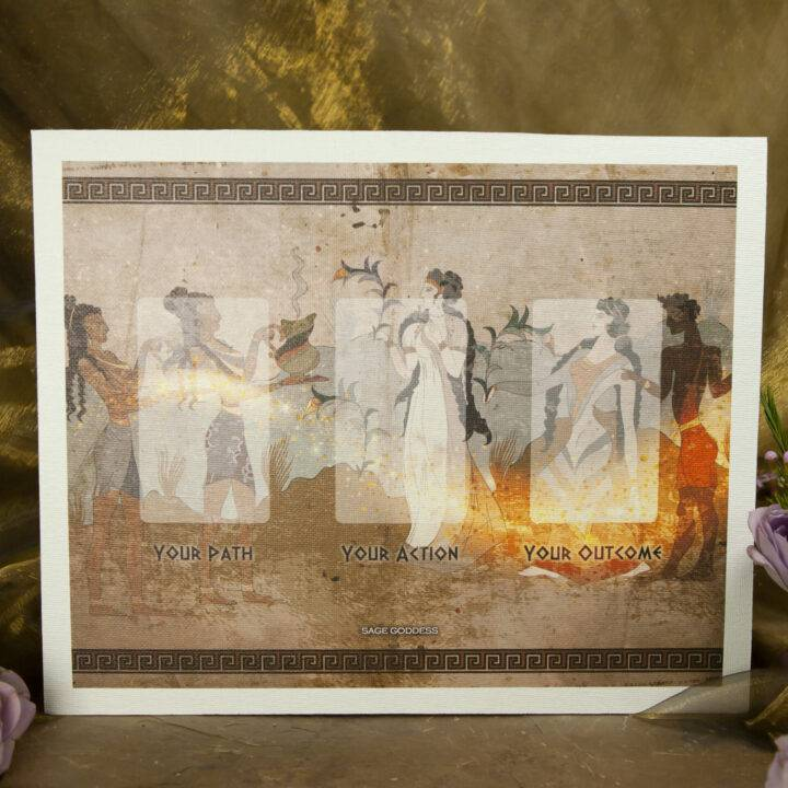 New Moon Divination Magic: Greek God and Goddess Oracle Set
