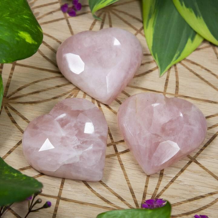 Rose Quartz Heart-Shaped Sphere Stand