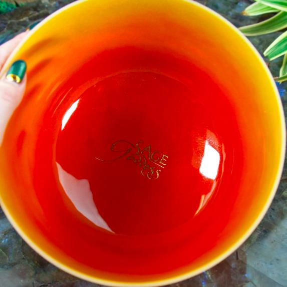 Sacral Ombre Crystal Singing Bowl