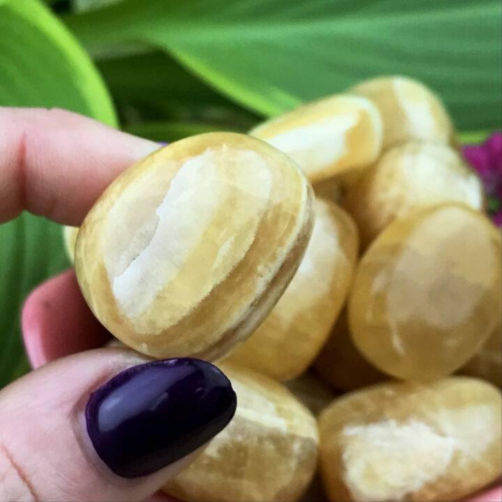 Tumbled Honey Calcite
