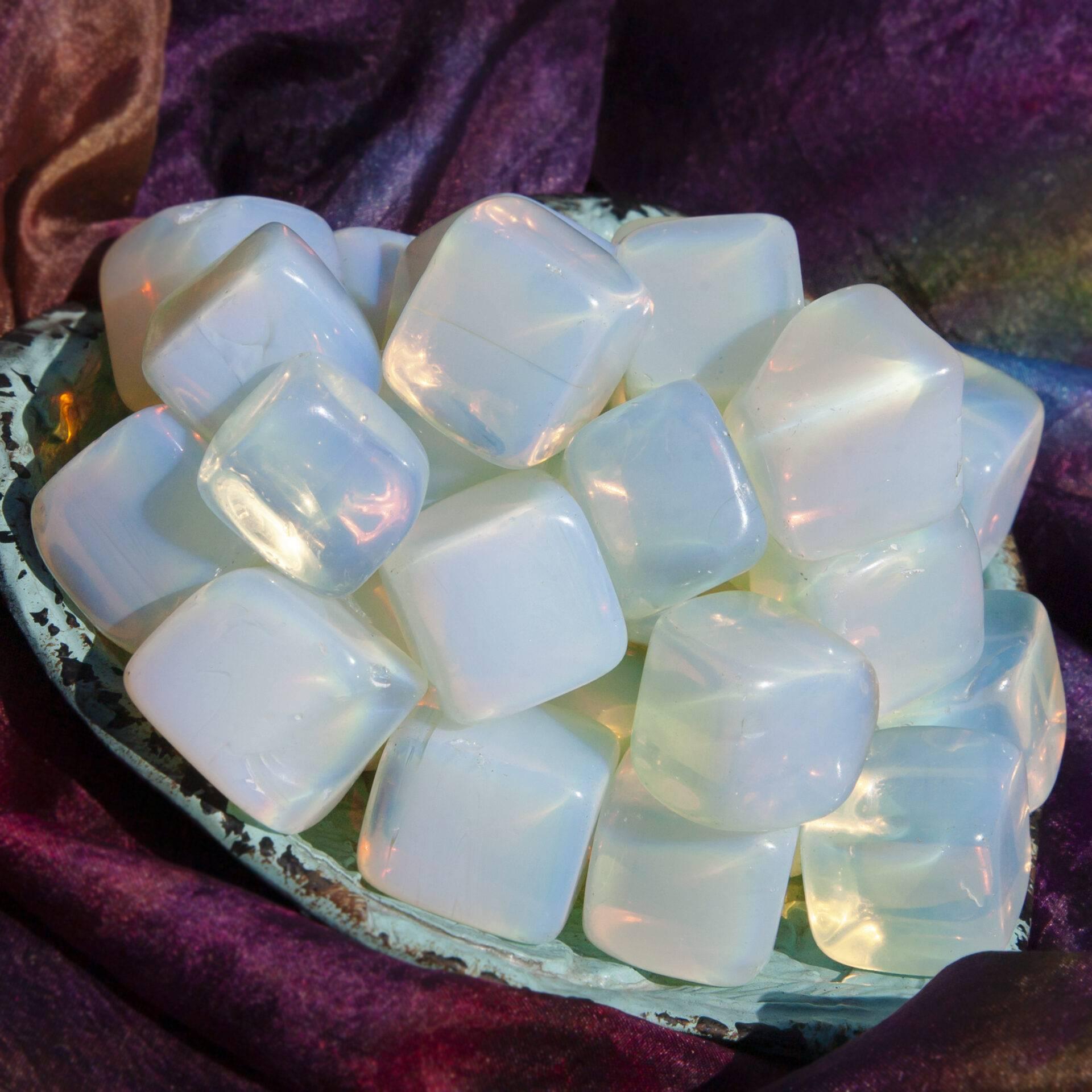 Opalite Gemstone Tumble Stone With Card rd9