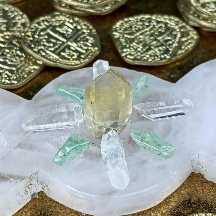 Triple Moon Prosperity Crystal Grid