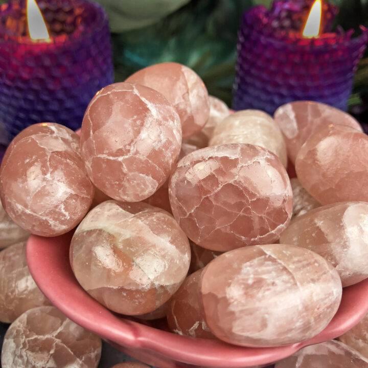 Tumbled Strawberry Calcite