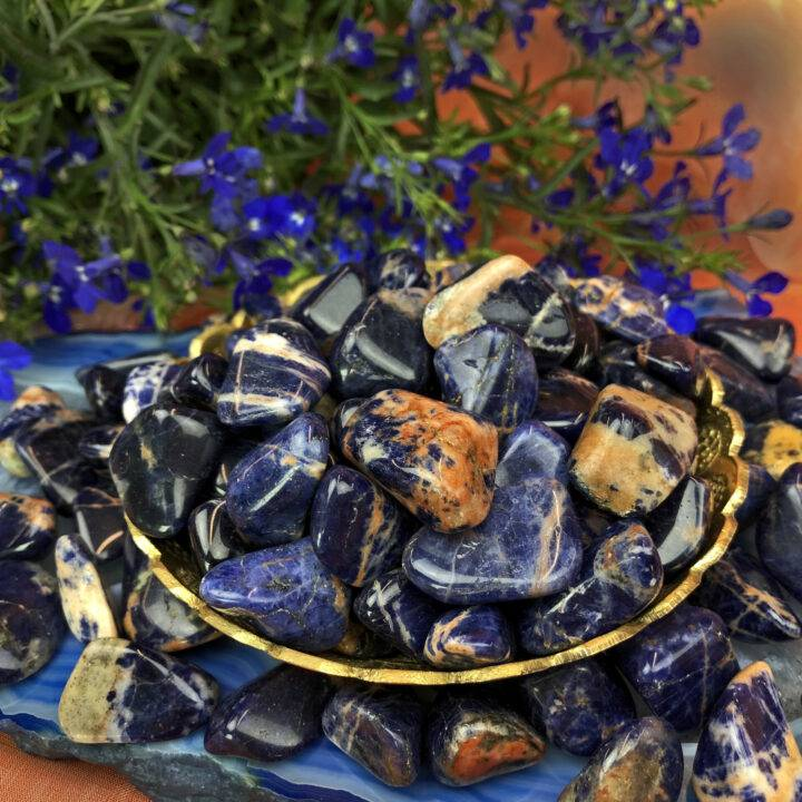 Tumbled Sunset Sodalite