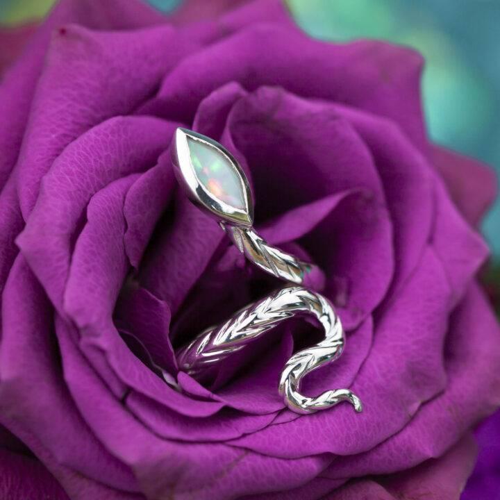 Athenas Transformation Snake Ring