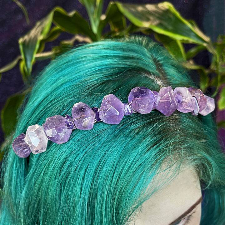 Divine Goddess Amethyst Crown