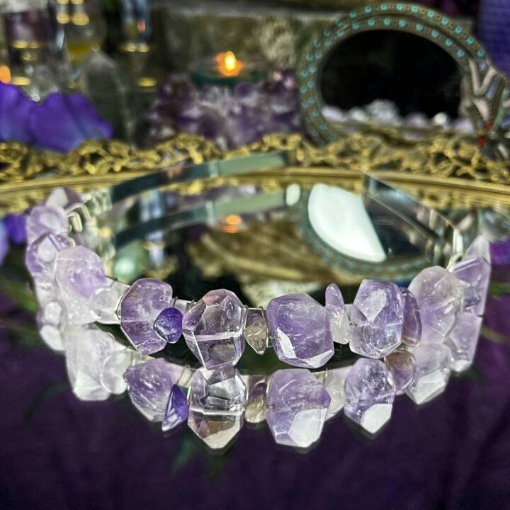 Divine Goddess Amethyst Crown
