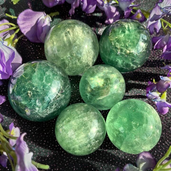 Green Fluorite Follow Your Heart Sphere