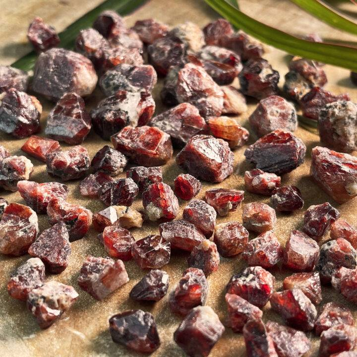 Grounded Power Natural Red Zircon