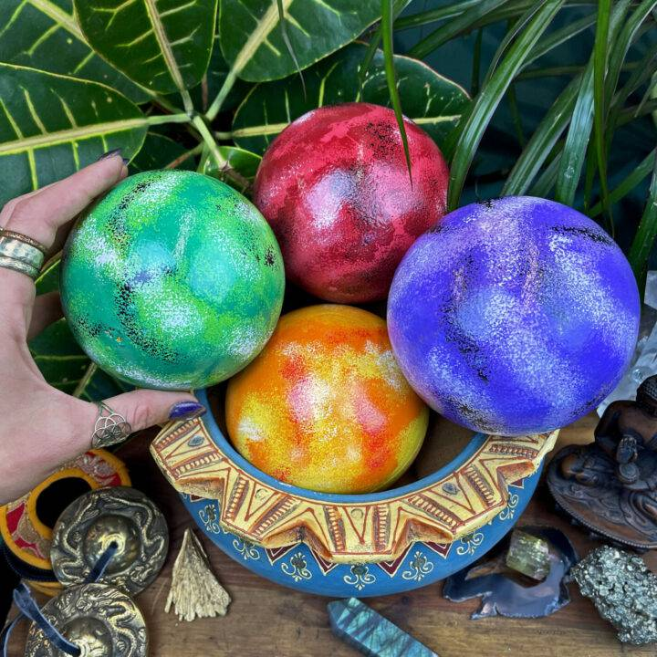 Hand Painted Balinese Rattle