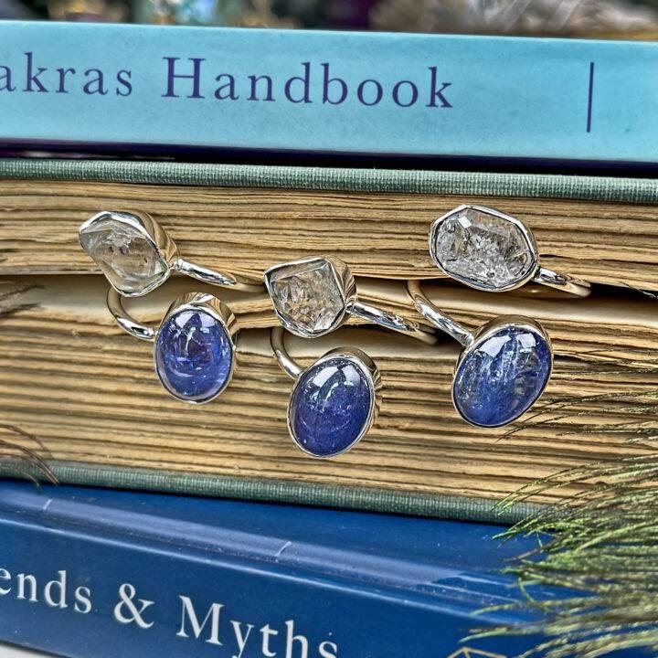 Herkimer and Tanzanite Spiritual Alchemist Ring
