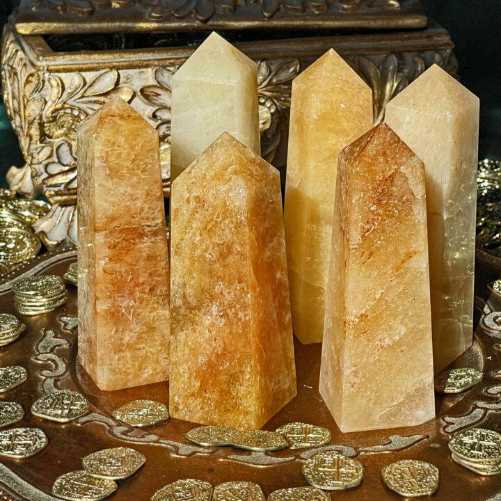 Indian Citrine Prosperity Obelisk