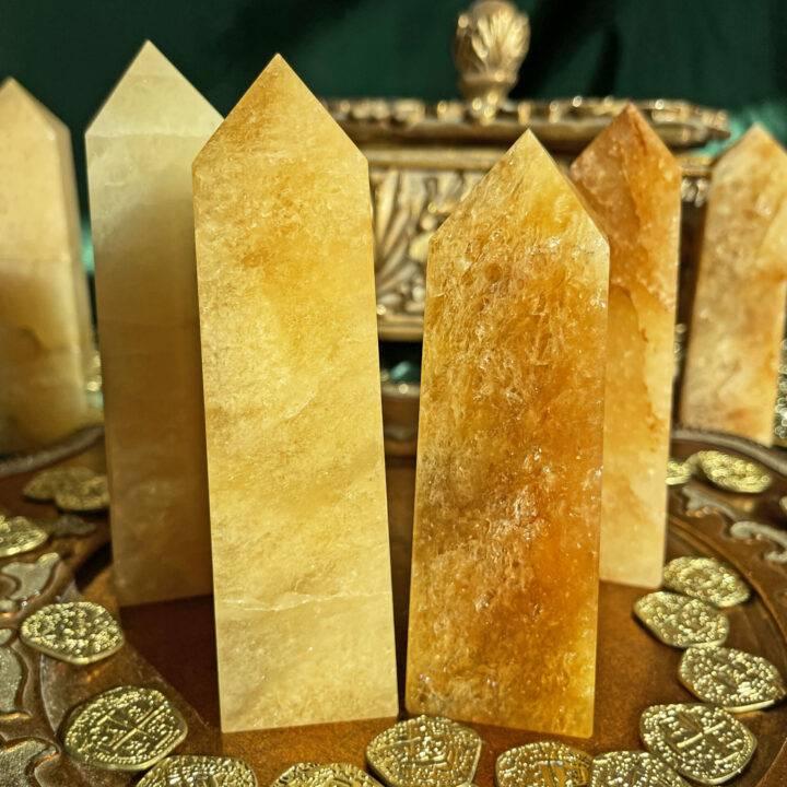 Indian Citrine Prosperity Obelisk