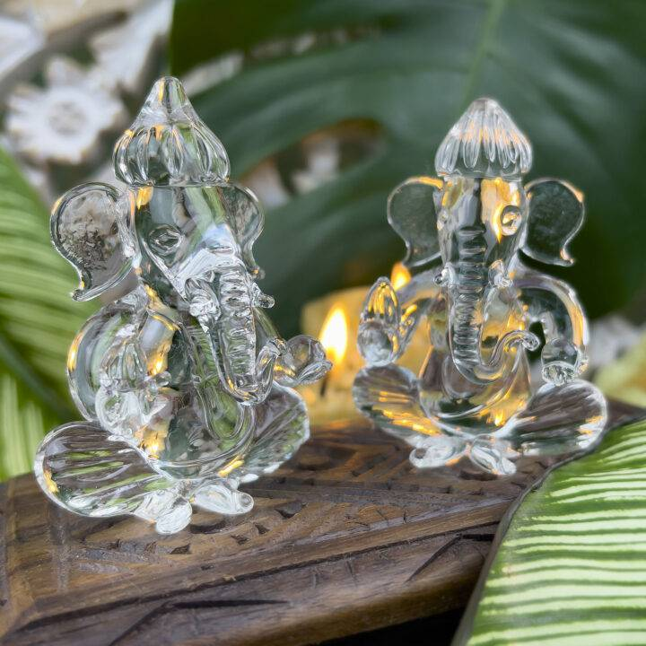 Large Hand Blown Glass Ganesha BeeBop