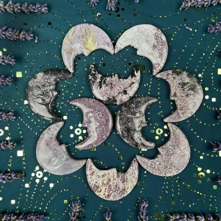 Lepidolite Good Mood Moon