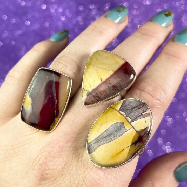 Mookaite Adjustable Ring