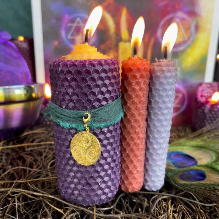 New Moon Divination Magic: Celtic Candle Reading Set