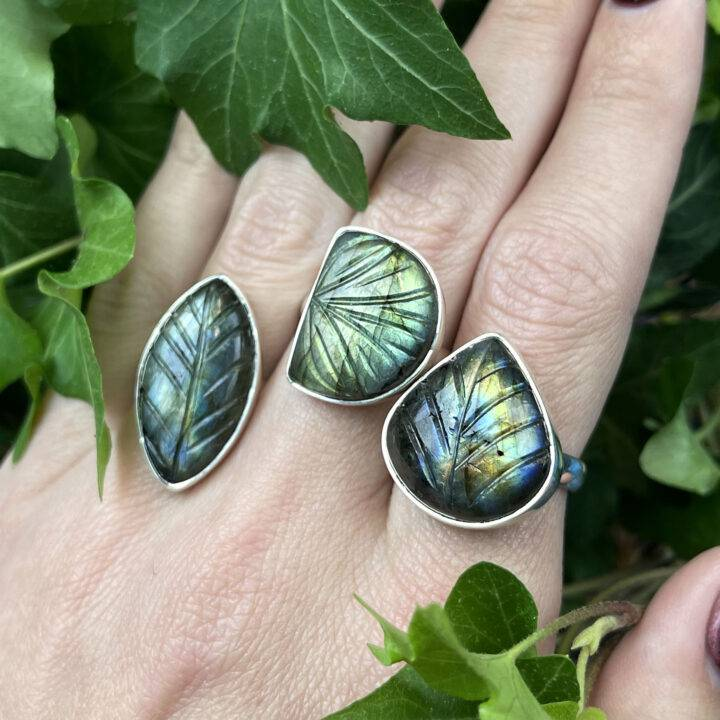 New Beginnings Labradorite Leaf Ring