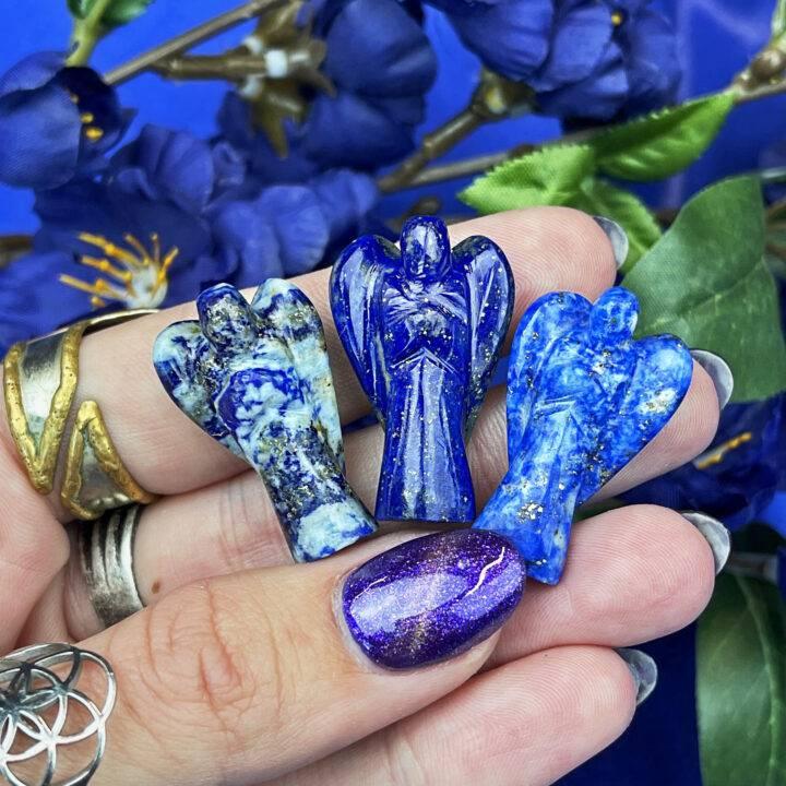 Queens Lapis Lazuli Pocket Angel
