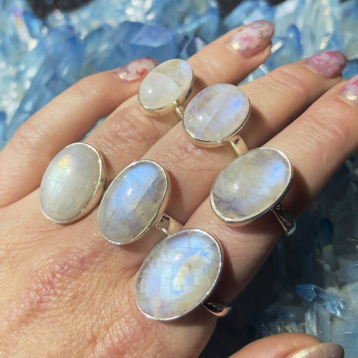 Rainbow Moonstone Magic and Possibility Ring