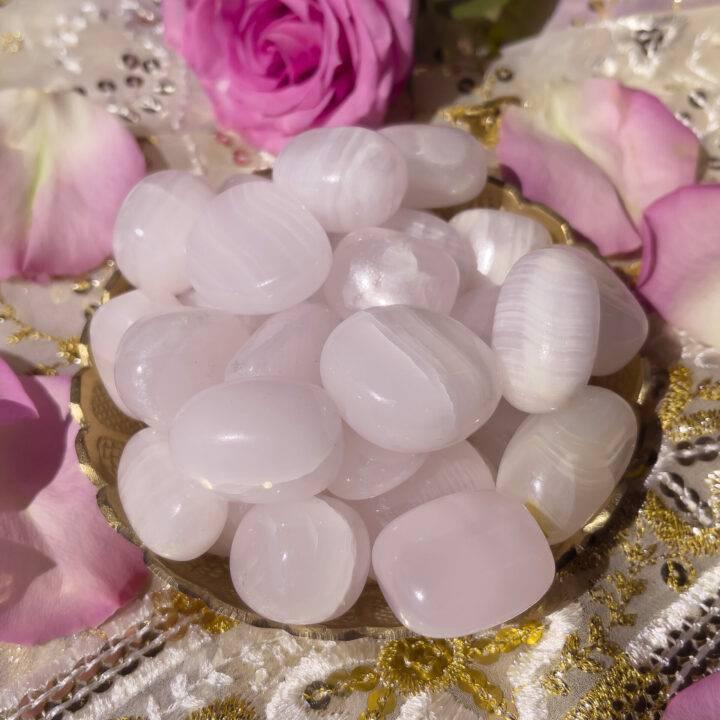 Tumbled Pink Mangano Calcite