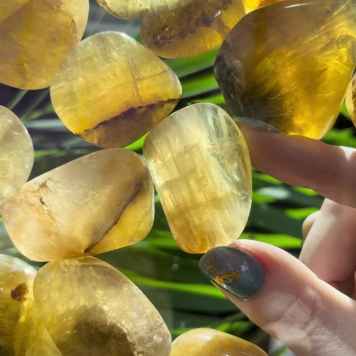 Tumbled Yellow Fluorite