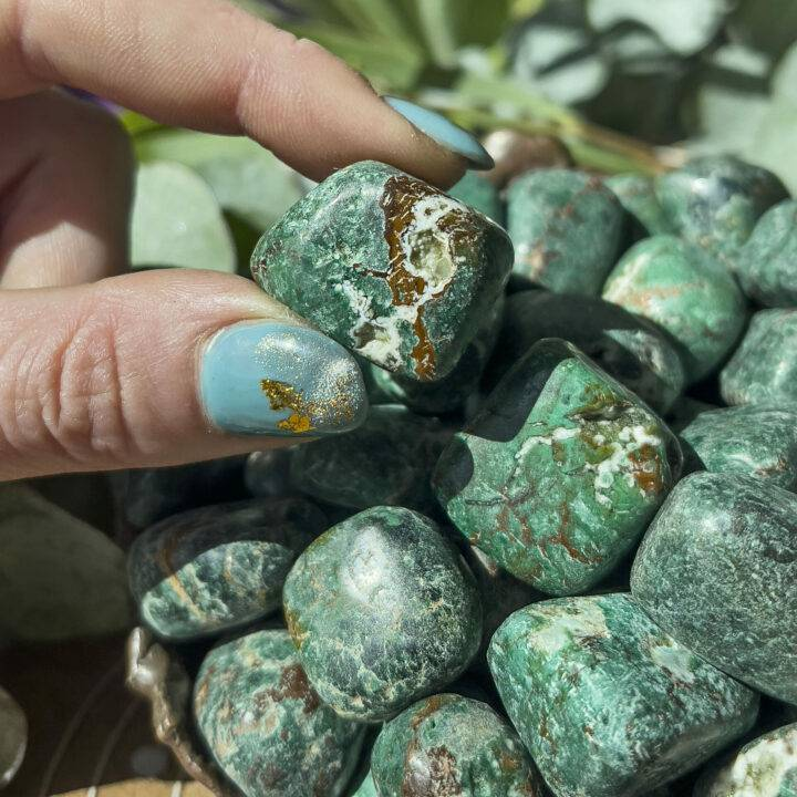 Tumbled Cuprite in Copper Matrix