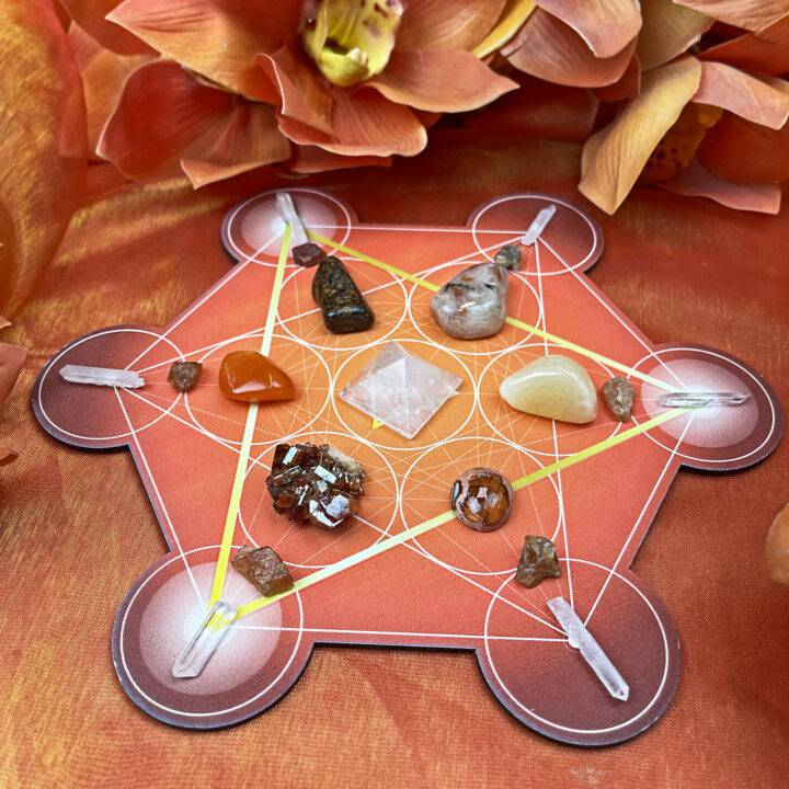 Turn up the Heat Fire Element Crystal Grid Set